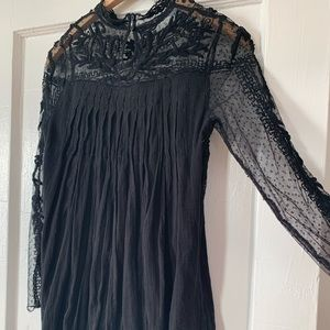 Free People Black Lace Mini Dress/Tunic